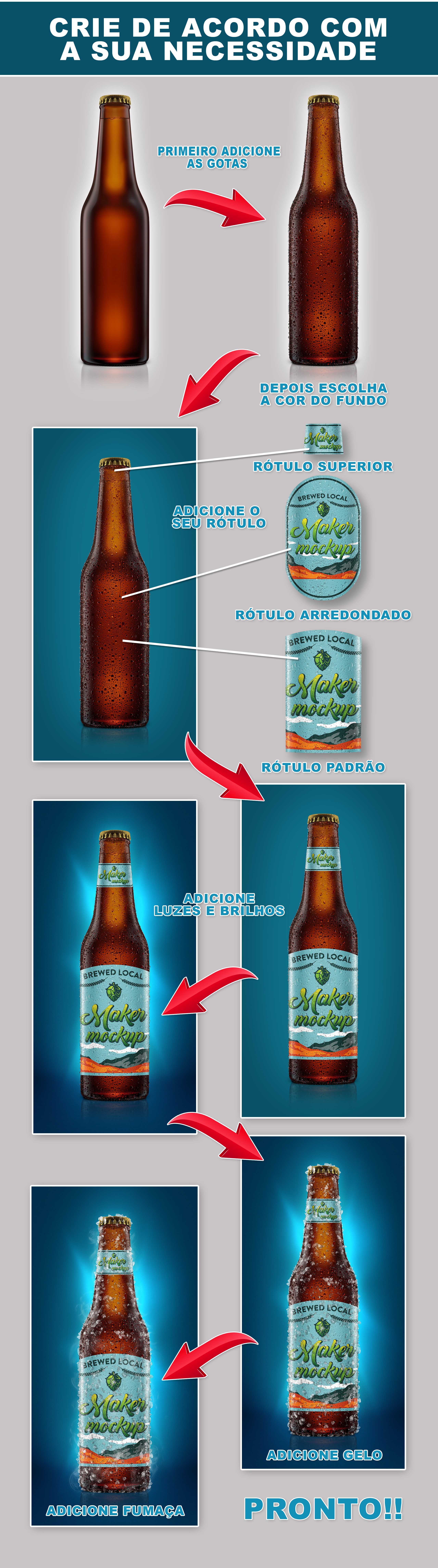 mockup garrafa cerveja