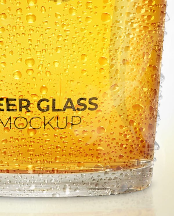 beer glass mockup