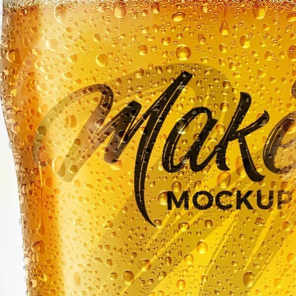 mockup beer glass