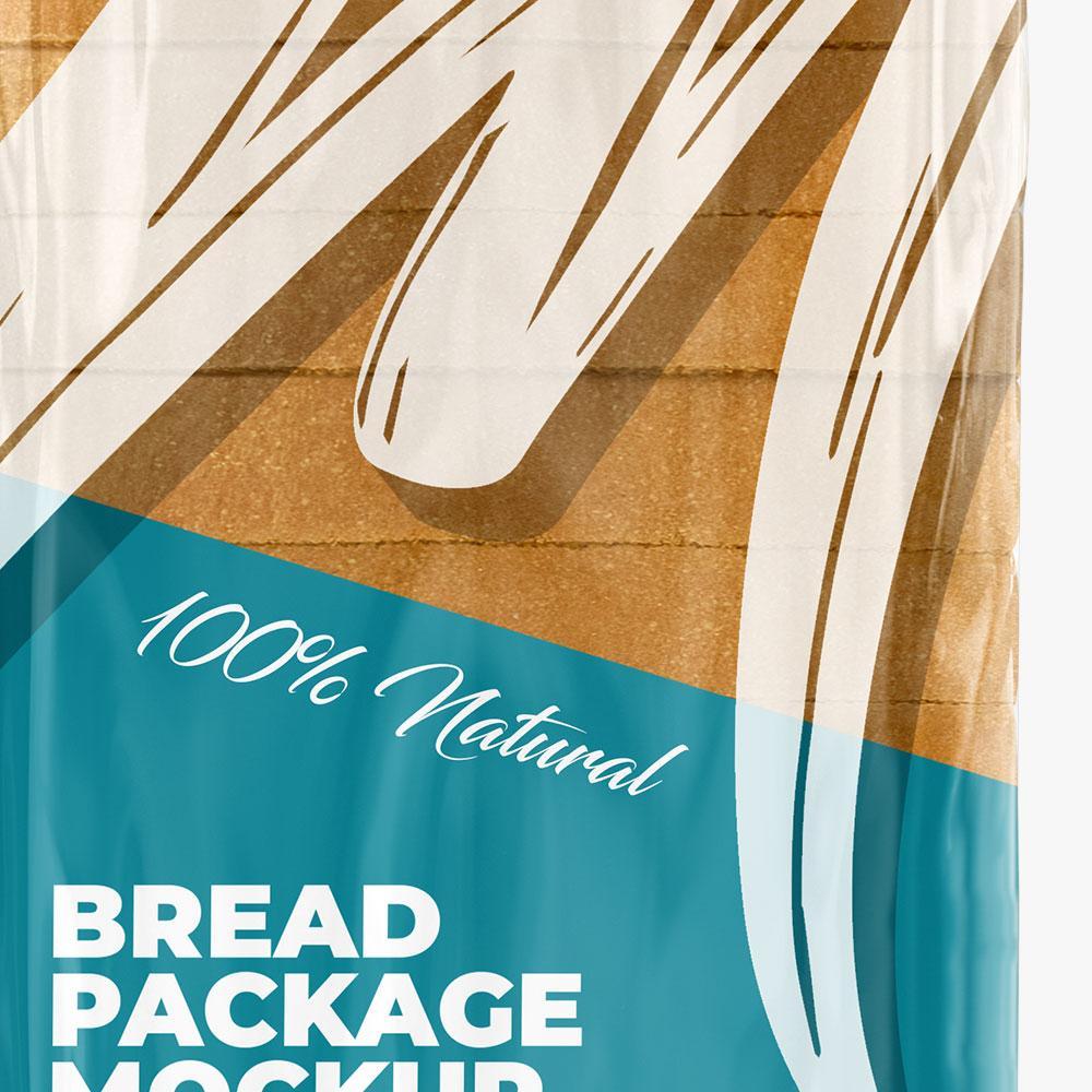 pacote de pão mockup
