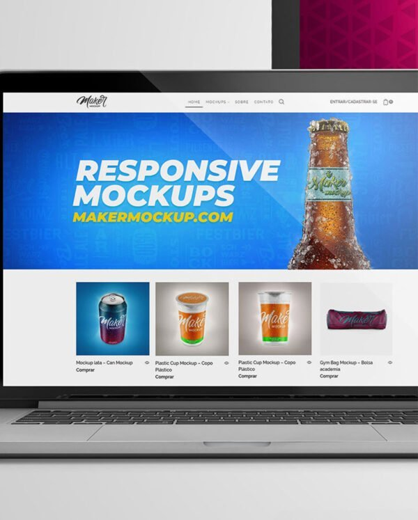 Resposive web mockups
