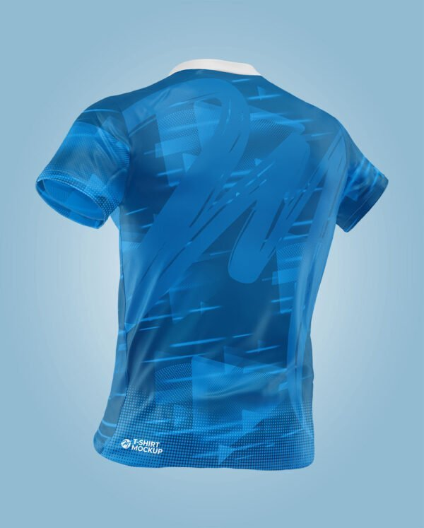shirt blue mockup